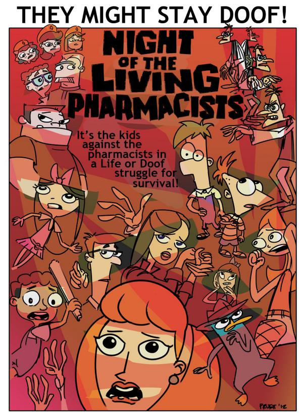 Phineas and Ferb Night of the Living Pharmacists (2014)